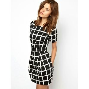 NWT ASOS Paint Check Ritchie Dress